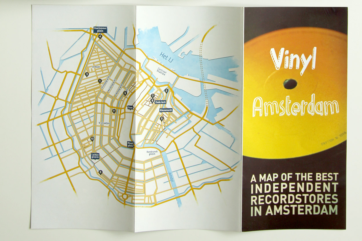 Vynil Amsterdam flyer outside