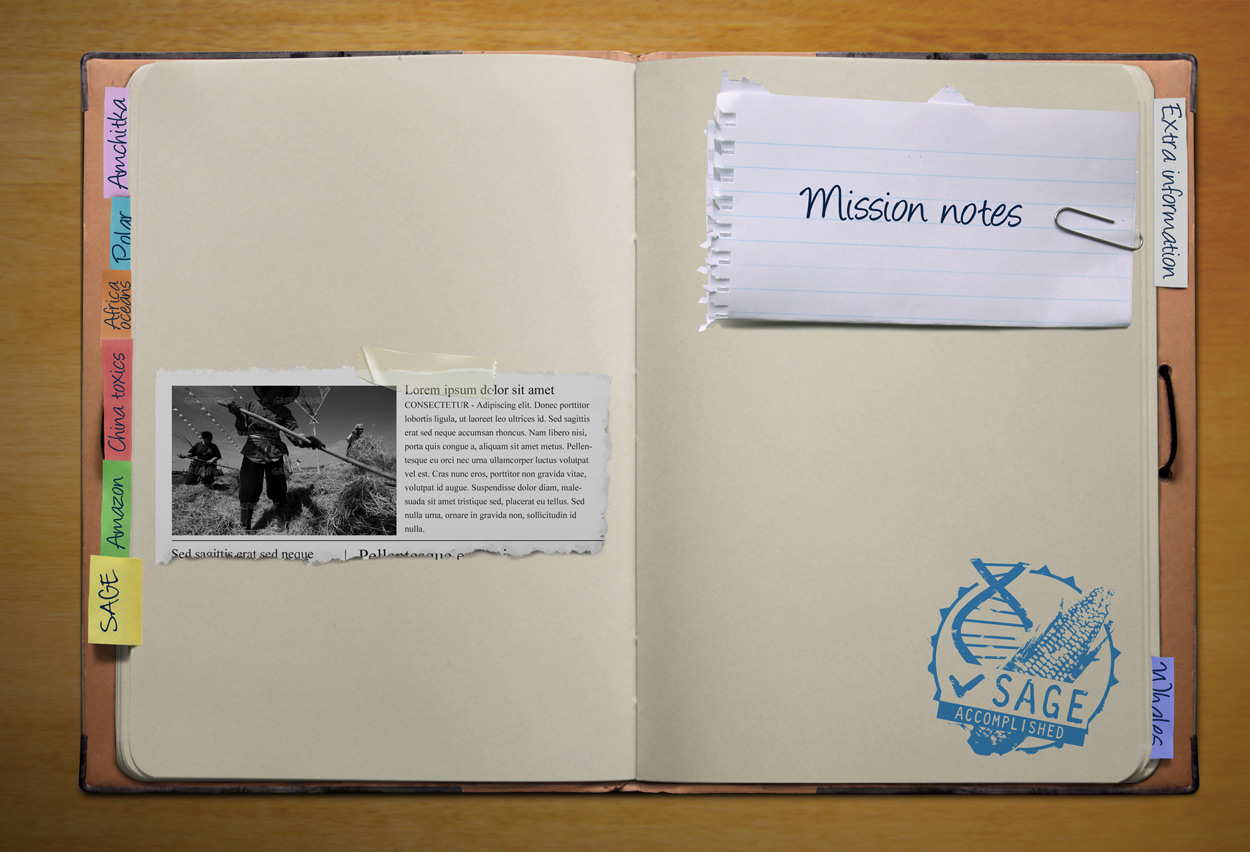 Opened mission logbook