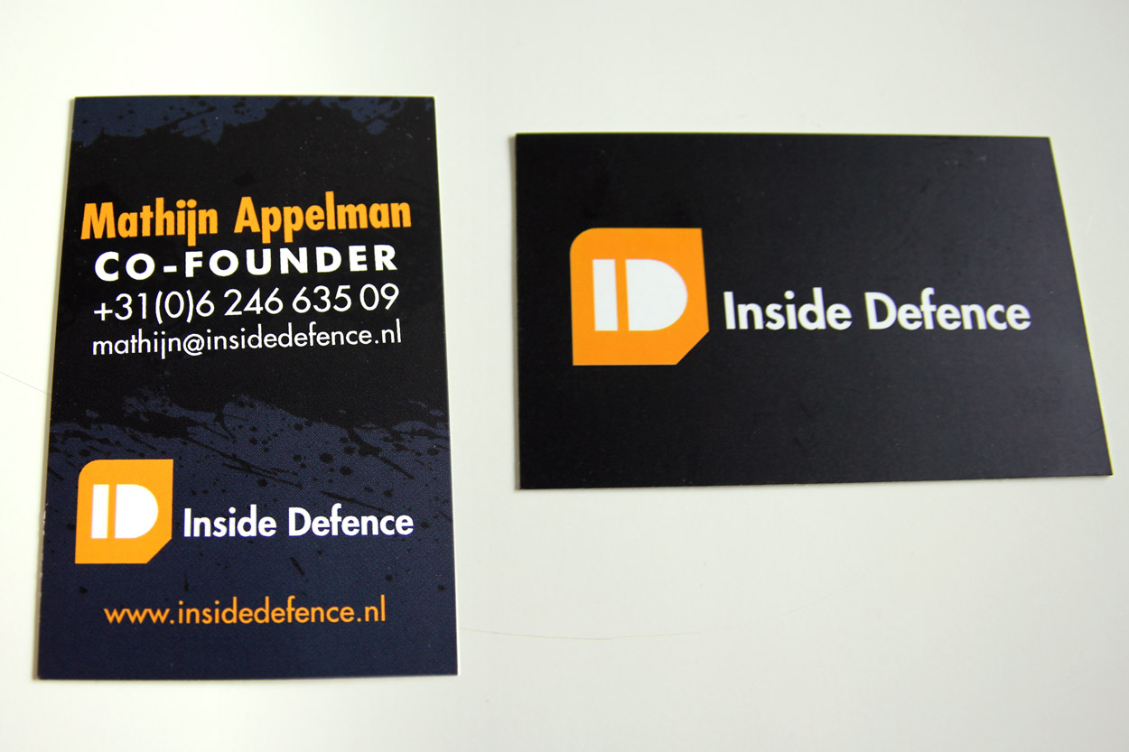 Inside Defence business card
