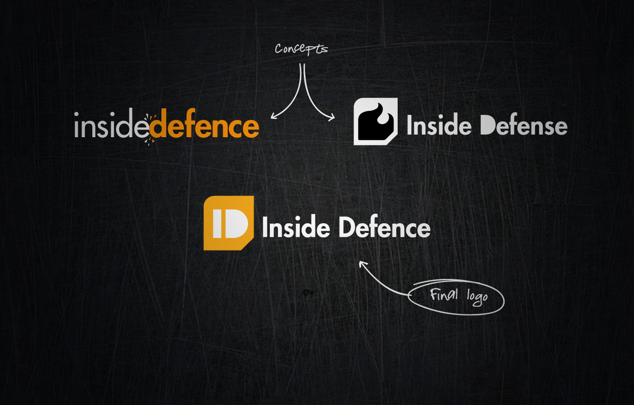 Inside Defence logo design