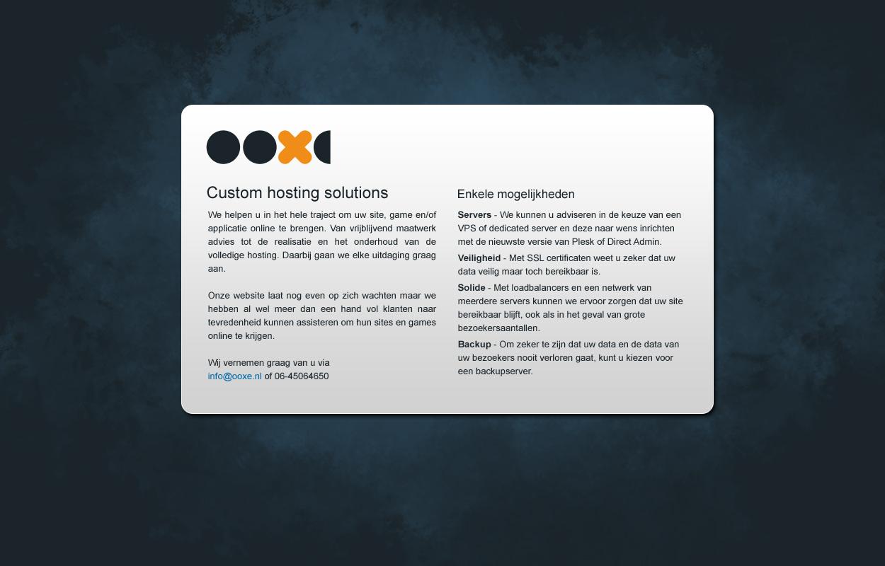 OOXE temporary site