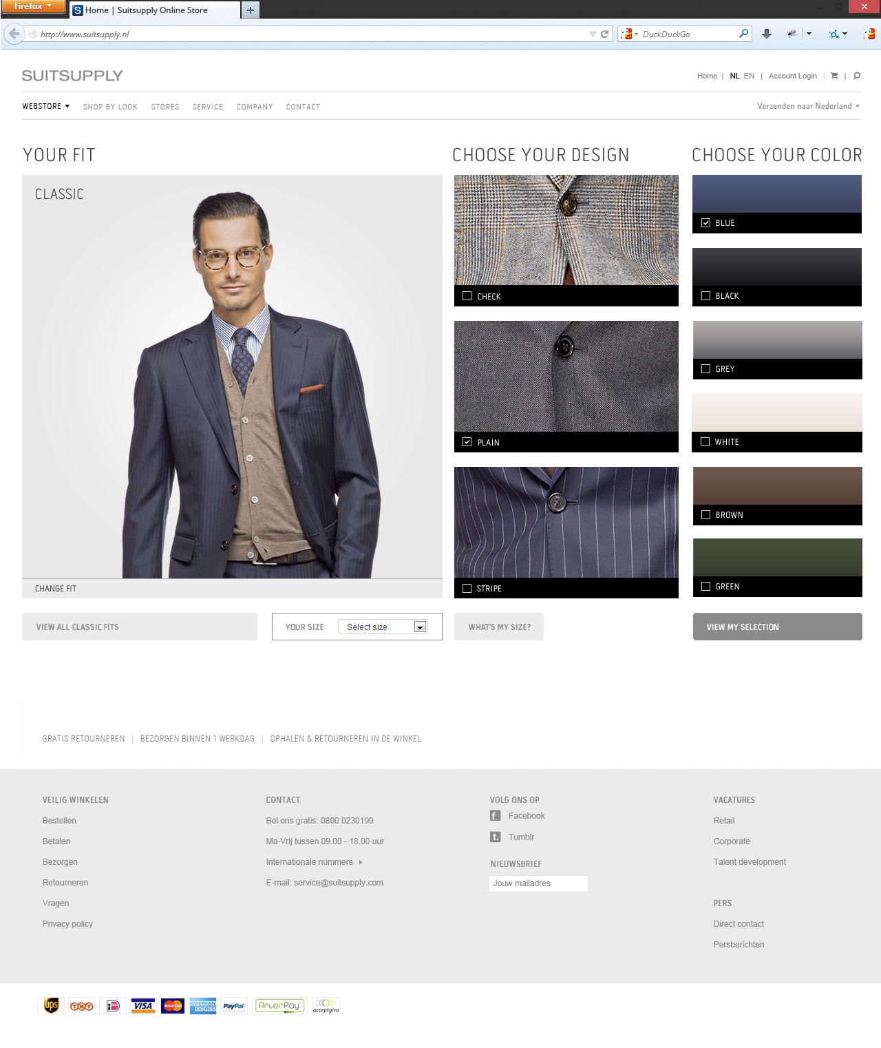 Suitsupply select style page