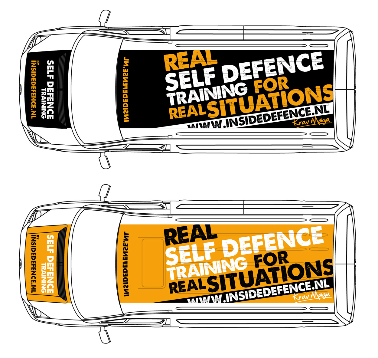 Inside Defence van stickers