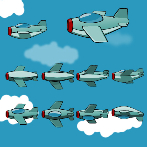 Airplane sprite sheet