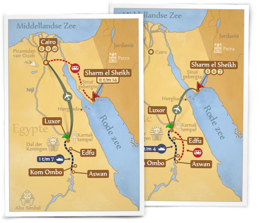 Egypt travelmap