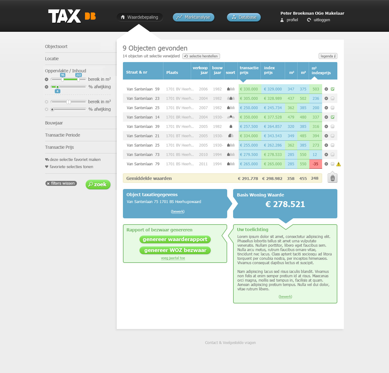 TAXdb application