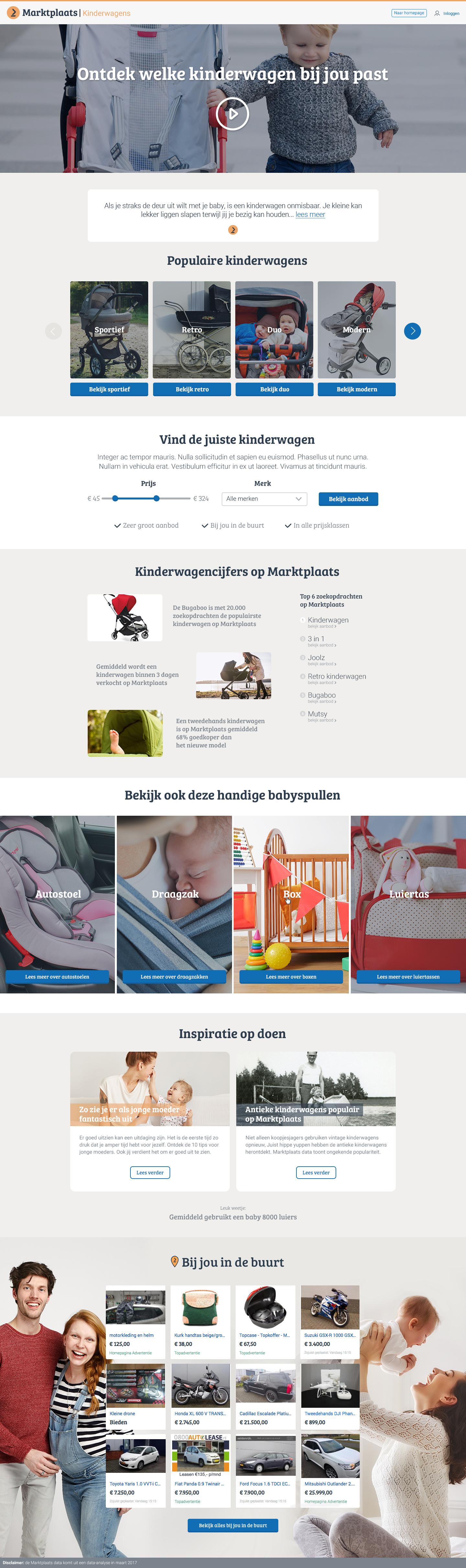 Marktplaats baby stroller selection help