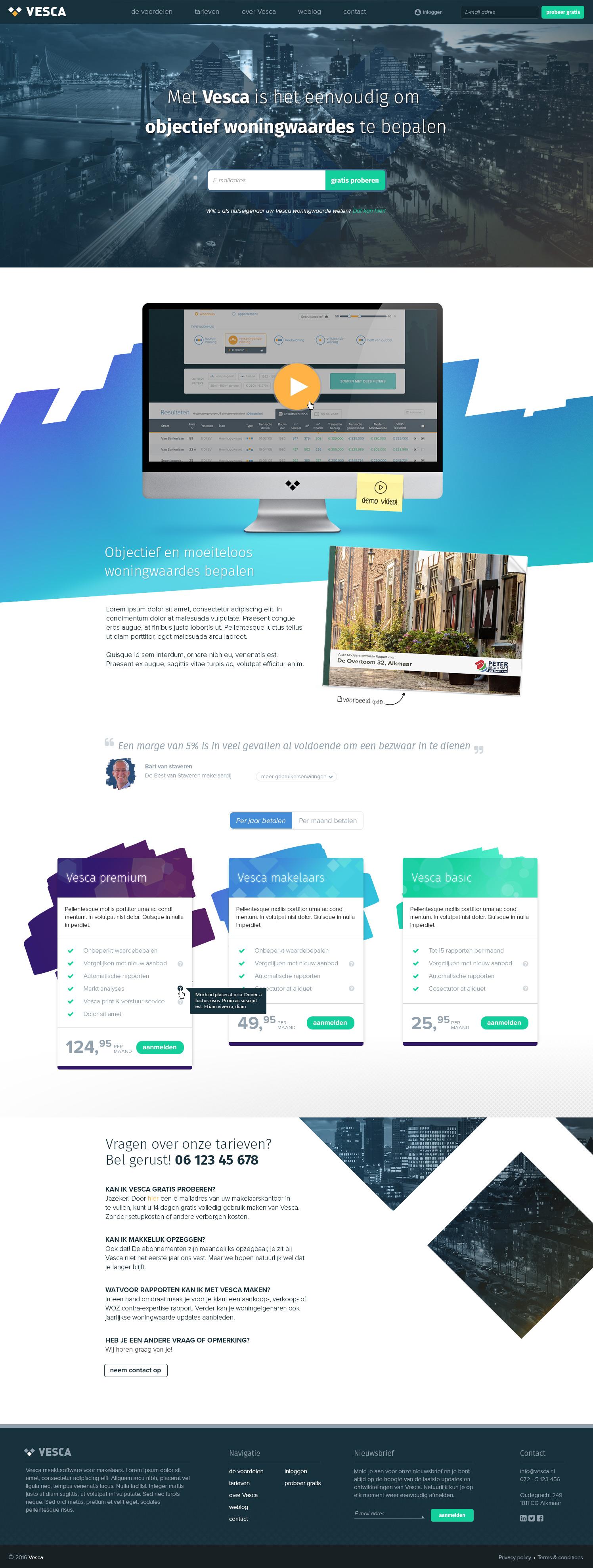 Vesca homepage